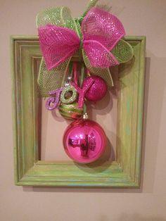 Framed Ornament Bouquet