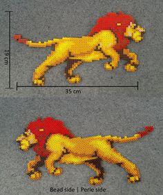 Lion King Set (Simba adult) - Hama beads perler by pixelarts0.deviantart.com on @DeviantArt