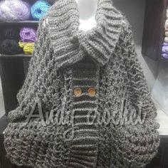Ahora si chicas !!! Terminado espero muy pronto poder compartirles el #tutorial  de este poncho #biluna  900 gr jiji para todas las tallas sólo en #andycrochet  #youtube  #crochet  #otoñoinvierno