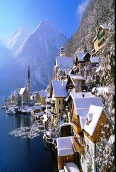 Tucked away in the mountains of Austria you'll find the tiny town of Hallstatt. Hallstatt and its population of less than 1000 residents re. Places Around The World, Oh The Places You'll Go, Travel Around The World, Places To Travel, Travel Destinations, Places To Visit, Around The Worlds, Travel Tips, Christmas Destinations