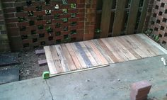 Extend your patio with pallets!  Thanks again Hometalk.com.