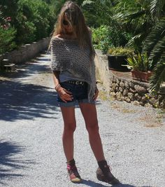 Limestone tweed  Luxury merino and alpaca mix poncho por ileaiye, $60.00