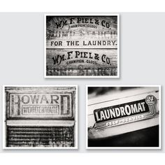 Rustic Laundry Room Wall Art Laundry Room Decor Set of 3 Prints or... ($38) ❤ liked on Polyvore featuring home, home decor, wall art, canvas wall art, photo wall art, brown home decor, photo canvas wall art and canvas home decor