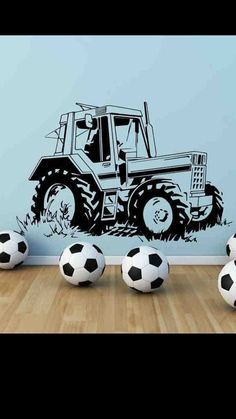 Tractor Farm Wall Art Sticker Boys Bedroom by WallSmartDesigns, £17.99
