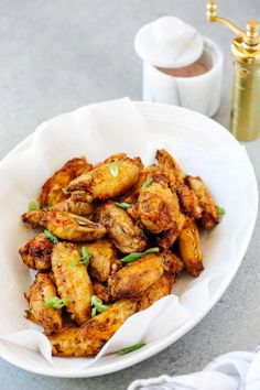 You won't believe how easy it is to make these Air Fryer Chicken Wings! Made with pantry staples, these crispy wings are finger-licking good! Air fried to golden perfection, these wings are going to disappear fast off your dinner table #airfryerchickenwings #airfryerchickenwingsrecipe Best Gluten Free Recipes, Whole 30 Recipes, Keto Recipes, Chicken Wing Recipes, Healthy Chicken Recipes, Healthy Appetizers, Appetizer Recipes, Air Fryer Chicken Wings, Air Fryer Recipes