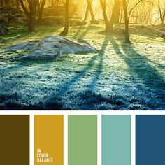 amarillo y celeste, azul celeste, azul oscuro y celeste, celeste y azul oscuro, color amanecer, color bosque invernal, color mañana invernal, color salida del sol, colores de la mañana, colores de la salida del sol, colores pastel, marrón y azul oscuro, matices de colores pastel, verde pálido.