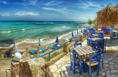 """ Taverna With A Sea View At Tsilivi on Zakynthos island Greece Photography by Alistair Ford """