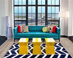 Bright color and vivid pattern come alive in this room - 20 Quirky, Funky and Cool Rooms to Love