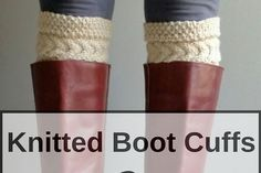 Quick and easy boot cuffs free knitting pattern that you'll love to wear.