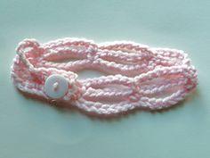Ravelry: Gathered Chains Newborn Headband pattern by Amanda Mannas