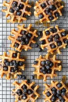 All-The-Blueberries Buttermilk Waffles / joy the baker