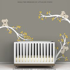 I want this for my future baby's room! Koala Tree Branches by LittleLion Studio. $79.00, via Etsy.