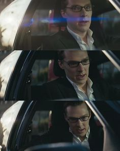 WHAT IS THIS FROM BECAUSE OMG SEXINESS OVERLOAD -> what's with all these men in glasses in cars?!