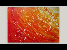 This is a acrylic abstract sun painting created with Deep red acrylic paint, white acrylic paint, yellow acrylic paint, orange acrylic painting. I also used ...