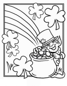Happy St Patricks Day Printable Coloring Pages For Preschooler