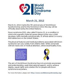 World Down Syndrome Day - Free Flyer!