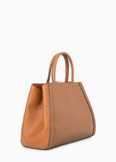 Saffiano-effect tote bag