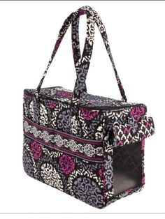DOG~NWT VERA BRADLEY ~Pet Carrier in Canterberry Magenta. Got this for Dixie.