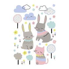 Articolo: LILIPINSOS1005Decorare la stanza dei bambini è un gioco facile e divertente con gli Stickers Rabbit and Clouds!Per creare un'atmosfera gioiosa e capace di infondere serenità ad ogni bimbo non c'è niente di più indicato degli stickers da parete! La francese Lilipinso, leader delle soluzioni artistiche per l'infanzia, propone una fantasia allegra e delicata allo stesso tempo: Rabbit and Clouds. Parte della speciale collezione Happy Clouds, sono adesivi unisex che hanno per tema un…