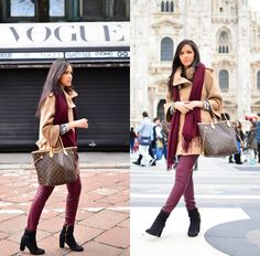 H Boots, Louis Vuitton Bag, Zara Coat
