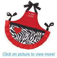 Too Hot to Handle Valentine's Day Red Hostess Kitchen Apron Zebra Print