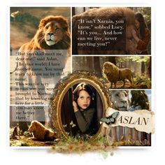 Lucy and Aslan, BOTFH / Round 1 by of-simple-things on Polyvore featuring art