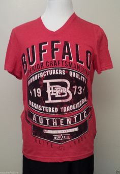 #Buffalo David Bitton men size M V-neck style cotton graphic t-shirt visit our ebay store at  http://stores.ebay.com/esquirestore
