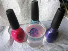 How To Do Tie Dye Nails. Swirl colors on water, dip nail on pattern you created.