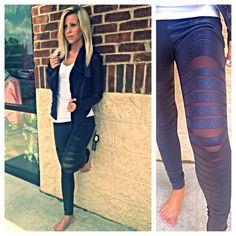 Body rock leather yoga pants and jacket at Ciao bella!