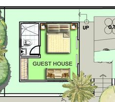 I would LOVE this floor plan for the guest house Home