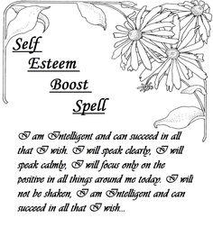 Self Esteem Boost Spell.