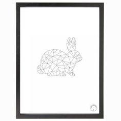 Vektor kanin, vit i gruppen Tavlor & Posters / Posters / Figurer hos RUM21.se (112906)