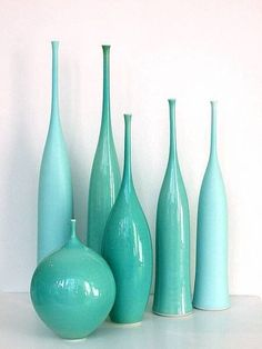 accents. teal vase for the bedroom