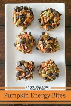 Pumpkin Energy Bites {THM-S, Low Carb, Sugar Free} - My Montana Kitchen