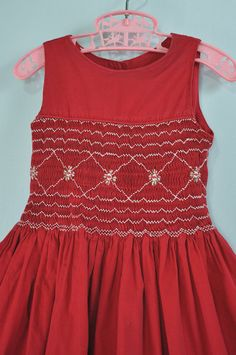 1950s / 50s GIRLS smocked PARTY