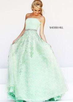 2014 Sherri Hill 11123 Green Homecoming Dresses #homecoming dress #2014 sherri hill