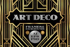 10 Frames Vol.2 - Art Deco Style by Cruzine on @creativemarket