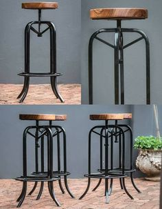 High end, bespoke industrial bar stools