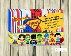 Convite Digital - Heróis Baby