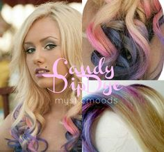 Blonde Hair with Pink Tips | ... hair extensions 18 20inches $ 190 00 blonde base with pink purple blue