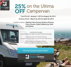 Rent the Ultima this April and Get 25% off - Campervan Hire Australia