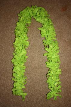 All Lime Green fleece  Boa Loopy Scarf by Janescraftycornerand