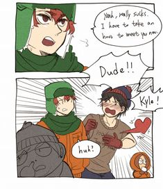 South Park Funny, Kyle South Park, Tweek South Park, South Park Anime, South Park Fanart, Stan Marsh, Park Pictures, Comic Styles, Funny Animal Memes