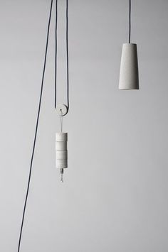 Concrete pendant lamp: so amazing. I think I'm in love with this suspension…