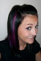 purple streaks in blonde hair - Google Search