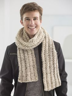 Scarf Crochet Mens scarf crochet pattern - Crochet Patterns for men are so hard to find! Check out this awesome compilation to see if you can find the perfect pattern for that man in your life! Crochet Mens Scarf, Crochet Shawl, Knit Crochet, Crochet Lion, Crochet Scarves For Men, Crochet Scarfs, Crotchet, Crochet Stitches, Crochet Gratis