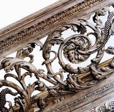 Detail  Carved English Baroque Balustrade. 1677-80. attributed to Edmund Pearce. Metropolitan Museum of Art. NYC.