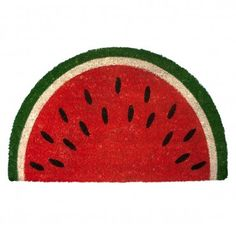 Watermelon Panama Slice Door Mat - Natural Coir Nonslip Rubber