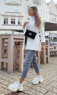 Winter Fashion Outfits, Look Fashion, Spring Outfits, Cute Casual Outfits, Stylish Outfits, Mode Adidas, Look Blazer, Elegantes Outfit, Looks Chic