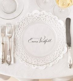 Doily place settings